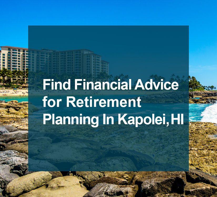 Financial advisor Kapolei blog